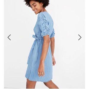 NEW Madewell Denim Wrap Dress